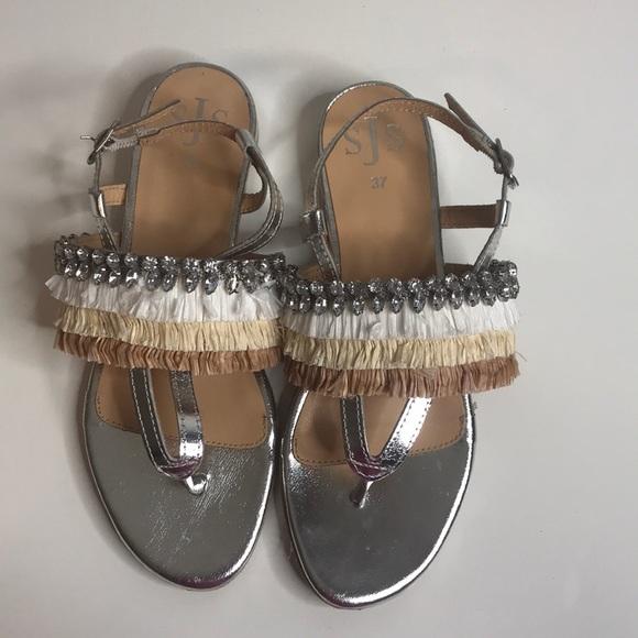 76e6d6205 Silver SJS sandals.